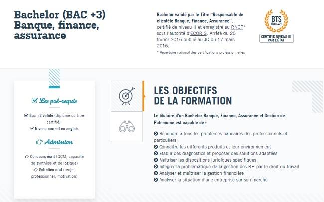 bac +3 finance
