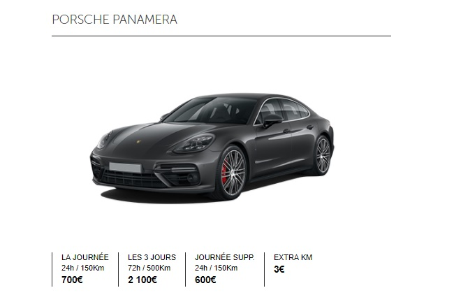 tarif location voiture de luxe Paris
