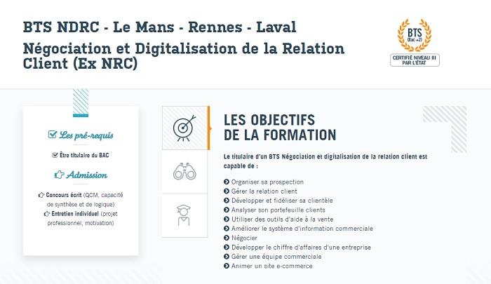 bts négociation et digitalisation de la relation client rennes