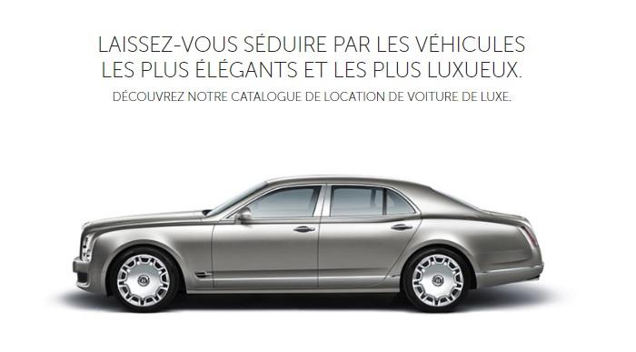 location voiture de luxe pas cher pour mariage